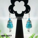 2014 New Fashion Pretty Girl French Doll pendant earrings