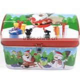 AN295 ANPHY Christmas Candy Decoration Flip Packing Lock Tin Gift Box Holder Stock 12.5*8.2*8.3cm