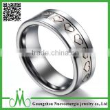 High quality fashion finger rings for men custom logo 2016 cool tungsten carbide ring for sale