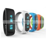 Silicone bluetooth smart wristband, sleeping monitoring led wristband, bluetooth wristband pedometer with LED display