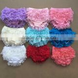 colorful baby girls underwear baby bloomers wholesale baby ruffle bloomers