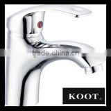 chromed beautiful one handle basin faucet