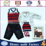 Fashion organic-baby-clothes baby gift set sweater for baby boy clothes