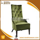 High quality wedding high back king and queen chairs