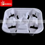 Wholesale Coffee Cup Carriers,4 Cup Pulp Board Trays in China