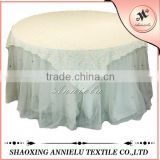 Wholesale ribbon chiffon embroidery wedding table overlays