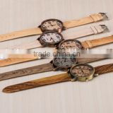 TREE HUT Personalized Watch, Unisex Watch, Minimalist Engraved Woode Leather, Wood Watch Bamboo Watch