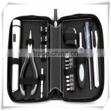 21PCS 2015 new Household hand electrical Tool Kit/mutifuctional tool set/business promotional tool kit in leather case HW04027
