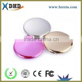 round gift power bank with mirror for woman makeup