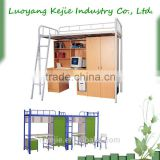 Metal Bunk Bed Dormitory bed With Computer Desk new design modern students favorite metal bunk bed modern twin steel bunk bed