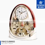 Beautiful crystal table centerpiece clock for wedding table decorations glass,QUARTZ sweep movement desk clock for kids