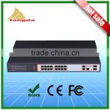 Managed 10/100/1000Mbps 24 port Fiber Switch 2 SFP combo PoE switch                                                                         Quality Choice