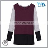 OEM top selling long sleeve woman custom blouse t-shirt