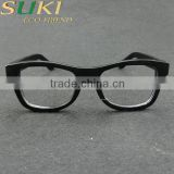 fashion bamboo frame sunglasses with black printing