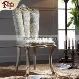 French vintage living room furniture high back chairs white throne chair