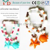 Hot sale new necklace jewelry silicone baby pendant elephant shape teether