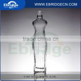 500ml charming body shape vodka glass bottle with screw top