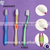 Rubber massage bristle toothbrush