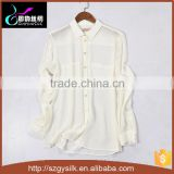 custom design women 100%Silk chiffon blouse with buttons                                                                         Quality Choice
