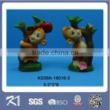 promotional gift mini resin cute animal monkey figurines