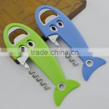 new design fish style with pp handle bottle opener