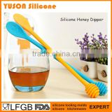 2016 hot sell silicone stirring splash stick bar honey dipper