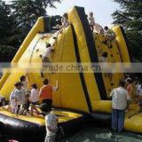 Professional Inflatable Climbing Wall With Safety Ropes For Children