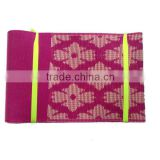 2016 Fashion Emboridered African Aso Oke Gele Headtie in Fushia Pink                                                                         Quality Choice