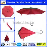 2015 Hot Sale High Quality Gossip Girl Double layer upside down umbrella reverse or inverted umbrella Free Shipping