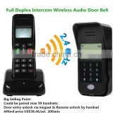 Full duplex intercom wireless audio door phone Wireless audio door bell for villa and apartments