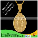 ATHENAA 18k Gold Filled Fashion Yiwu Jewelry Factory Virgin Mary Essential Oil Metal Pendant