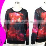 Women's hoodies Galaxy Space Digital Printed Jumper Sweater Top Crew Neck Pullovers Novelty Sweatshirts WY-1003