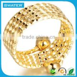 Best Wholesale Websites Gold Fashion Ring With Spring Design