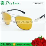 High quality custom metal polarized night vision goggles dark driving glasses HD view sunglasses