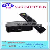 MAG 254 Linux Iptv Set Top Box European IPTV Account QHDTV MAG250 MAG254 ip tv box linux wifi USB Adapter MAG-260 MAG 254