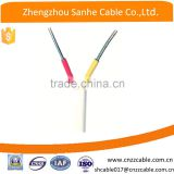 two core flat wire/ solid conductor PVC insulation electric wire/ aluminum wire insulated