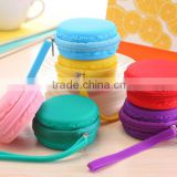 Wholesale durable silicone Macaron Jewelry box,Jewelry holder with handle,silicone coin bag