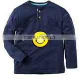 custom logo imprinted long sleeved boy's t shirt boys33