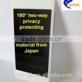 Two-way Privacy Protecting tempered glass film protector 2.5D Gorilla glass silk printing white/black For Iphone 6/6Plus white