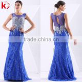 The lastest 2015 styles Fashion sequins dress sexy blue Backless charming beading fashion mermaid prom party dress
