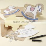 Vintage Theme Party SHABBY Horse Baby Bear Rocking Horse Rocking Horse Invitations Baby shower Party Supplies