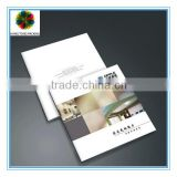 2015 full color printing custom softcover paper catalogue with glossy lamination