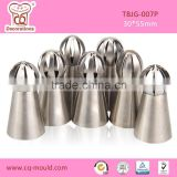 Cupcake Stainless Steel Russian Ball Nozzles Icing Piping Nozzles