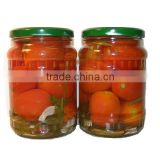 Best selling jarred big tomatoes 540ml from Vietnam, red color, best quality, cheap price