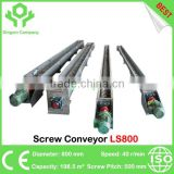 Factory price stainless steel screw conveyor with long service life and good after sale service supply