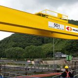 high efficiency 5 ton double beam gantry crane used for lifting