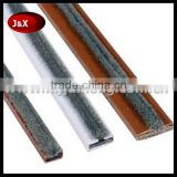 European type Hard PVC shell Fireproof intumescent door seal with brush or without brush with/without adhesive