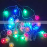 Outdoor garden hanging color chanign flower string light Xmas tree led operation light
