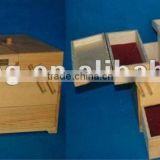 foldable custom design wooden sewing box wholesale