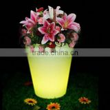 LED large garden flower pots blue /led plastic small outdoor illuminous led bark in flower pots and planters